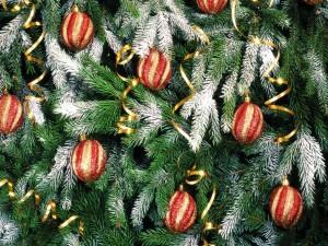Bolas decorando el árbol de Navidad
