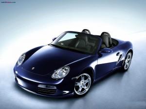 Porsche azul marino