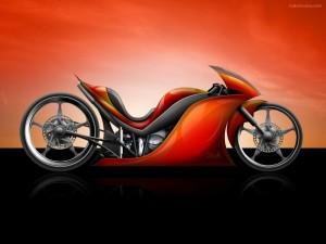 Postal: Diseño de moto futurista