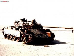 Tanque en zona de guerra