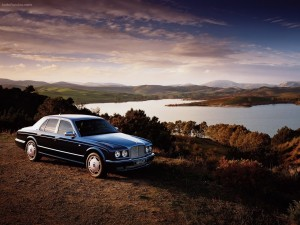 Un Bentley en el campo