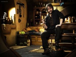 Peter Jackson en un escenario de El Hobbit