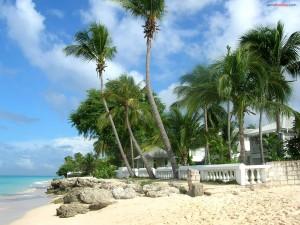 Postal: En primera línea de playa