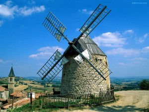 Molinos de viento en Lautrec (Francia)