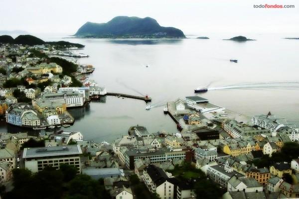 Municipio de Alesund en Noruega