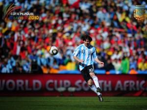 Messi en la Copa Mundial Sudáfrica 2010