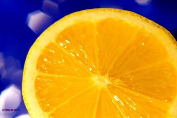 Corte de una naranja
