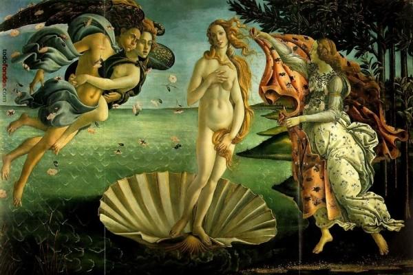 El nacimiento de Venus, pintura de Sandro Botticelli