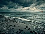 Nubarrones en la playa