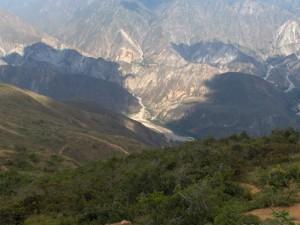 El cañón del Chicamocha (Colombia) desde el aire