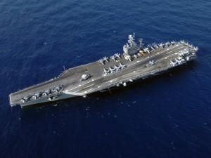 Portaaviones USS Harry Truman visto desde el aire