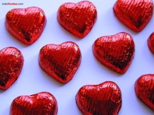 Bombones en forma de corazón