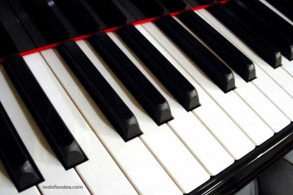 Teclas blancas y negras de un piano