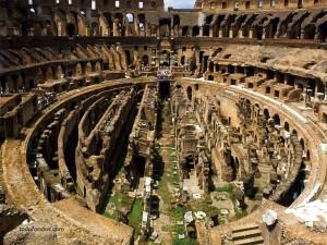 Postal: Los restos del Coliseo romano
