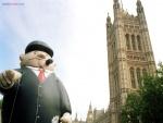 Muñeco de negocios, en Londres