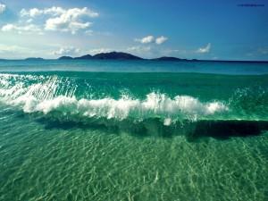 Postal: Agua clara como el cristal