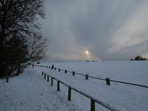 Postal: Llanura nevada