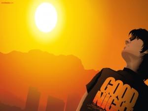 Postal: Mirando al Sol