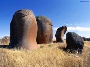 Piedras con formas extrañas