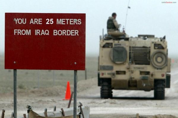 Estás a 25 metros de la frontera de Iraq