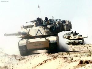 Postal: Tanques norteamericanos