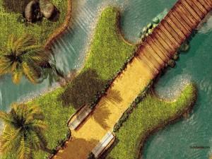 Una isla con forma de guitarra