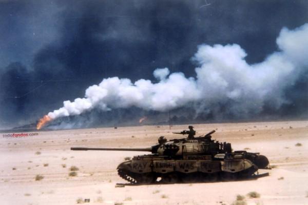 Tanque avanzando hacia el objetivo