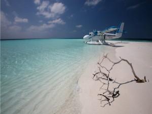 Taxi aéreo en las Maldivas