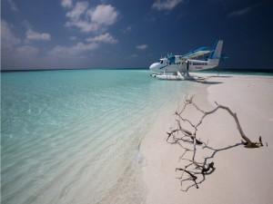 Postal: Taxi aéreo en las Maldivas