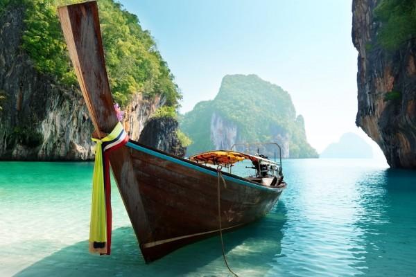 Barca en las Islas Andamán
