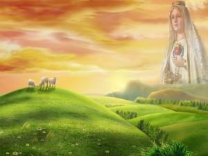 La Virgen María en el cielo