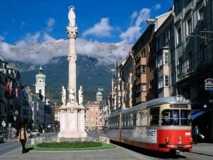 Una calle de Austria