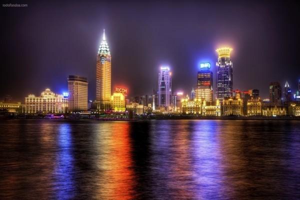 Espectro de luces de la ciudad