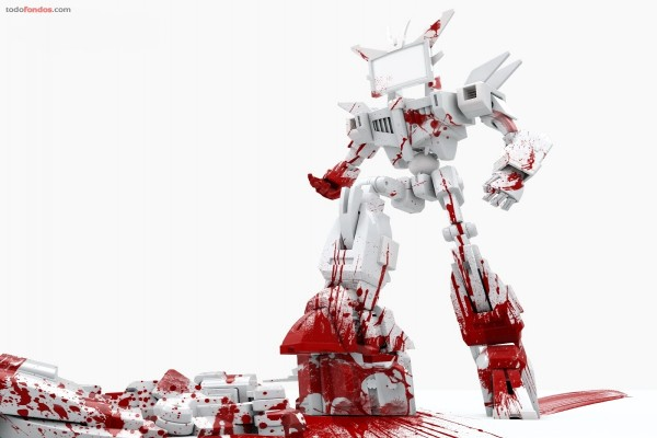 Robot sangriento