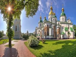 Postal: Catedral de Santa Sofía de Kiev (Ucrania)