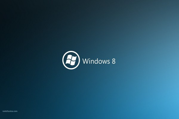 Windows 8 en azul