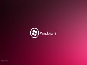 Postal: Windows 8 en magenta