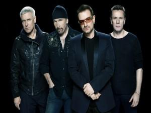Postal: Los componentes del grupo U2