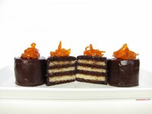 Postal: Tarta Grand Marnier con chocolate y vainilla