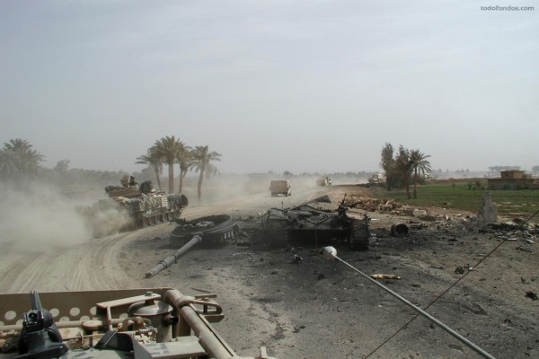Tanque destruido