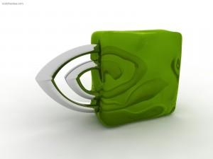 Postal: Logo 3D de NVidia