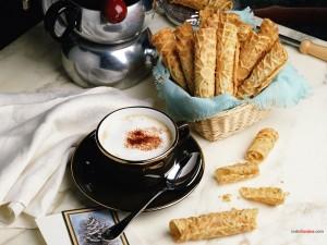 Café con barquillos