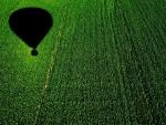 Volando en globo sobre un maizal