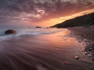 Postal: Playa en la isla de Chipre