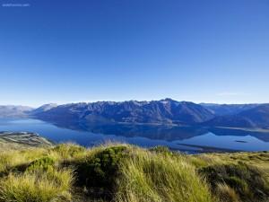 Postal: Lago Wakatipu (Nueva Zelanda)