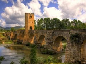 Postal: Puente medieval