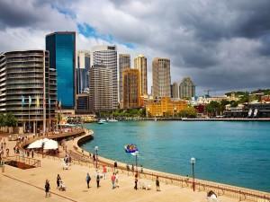 Postal: Rascacielos en la ciudad de Sídney (Australia)