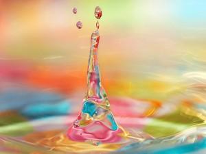 Postal: Agua de colores