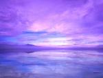 Un cielo morado