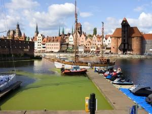 Postal: Vista del Río Motlawa, en Polonia